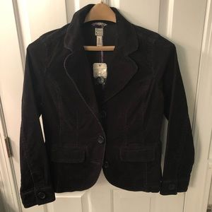 Bass NWT woman's corduroy blazer, cute fit, black